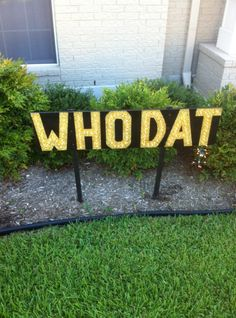 Who Dat Lawn Lights!