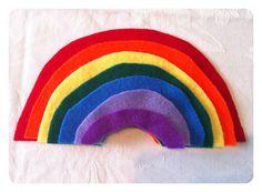 DIY Felt Rainbow Size SortingGame