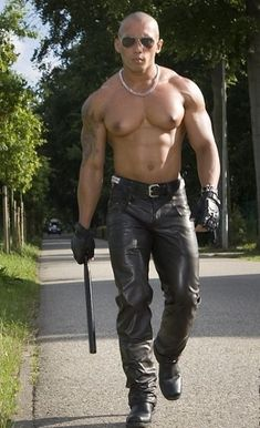 Asian leather daddy