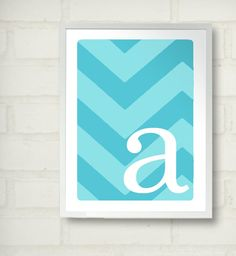 Chevron art for girls room