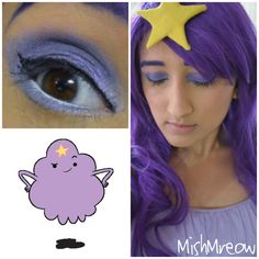 Oh. my. Glob!! Lumpy Space Princess Makeup by ~MishMreow on deviantART