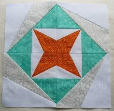 Quatrastar #Quilt Block Tutorial by Jenna from SewHappyGeek