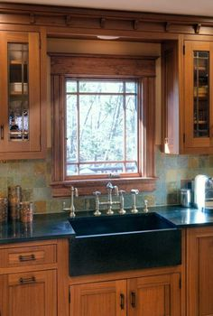 Beautiful window and cabinetry
