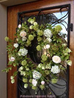 Wreath with gorgeous White Camellia