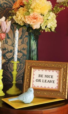 Be Nice or Leave: Subversive Cross Stitch Pattern - DIY Network