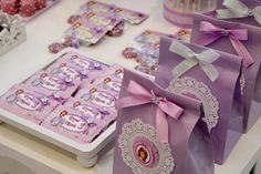 Favors at a Sofia the First Party #sofiathefirst #party