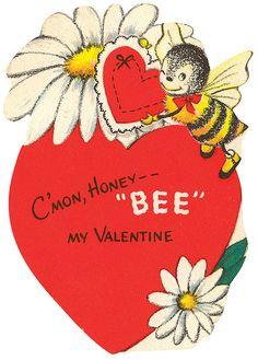 Honey Bee Vintage Valentine