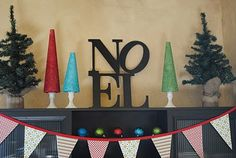DIY Noel sign - Pottery Barn knock off