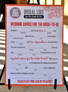MAD LIBS - Bridal Shower edition -