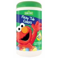 Sesame Street Fizzy Tub Color Tablets - 10.4 oz. by Sesame Street. $7.95. Sesame Street Fizzy Tub Colors 100 count package contains enough tablets for up to 100 baths! Your child will love bathing in the brightly colored water created by Sesame Street Fizzy Tub Colors. The package contains a variety of red, yellow and blue tablets that are perfect for combining to create many new colors! Elmo is featured on the packaging. The Fizzy Tub Colors tablets are mild, child-fr...