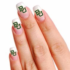 #Baylor Bears 16 Mini Temporary Nail Tattoos