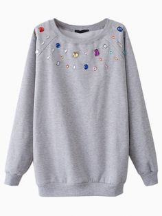 everyone loves a glammed up sweatshirt