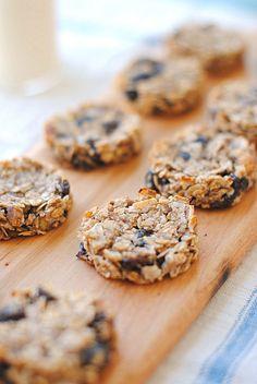 Guilt-Free Oatmeal Raisin Cookies, no eggs, oil, butter or sugar!