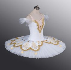 Classical Ballet Tutu Professional Competition White Golden Aurora All Sizes   eBay white golden, danc costum, tutu mad, ebay, ballet tutu, trim tutucom, costum inspir