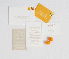 orange and neutral stationery