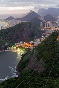 brazil, mountains, rio de janeiro, city lights, beauti
