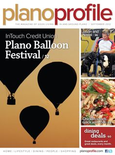 The September issue of the Plano Profile. The Plano Hot Air Balloon Festival takes the cover.
