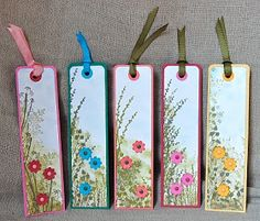 Stampin' Up ideas and supplies from Vicky at Crafting Clare's Paper Moments: Book marks using Touch of Nature, Autumn Days, Pocket Silhouettes