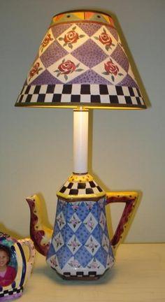 MacKenzie Child Style lamp....love it! via eBay http://cgi.ebay.com/ws/eBayISAPI.dll?ViewItem=320637523813