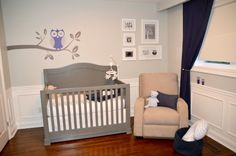 A gray crib? Oh, yes please! #nursery