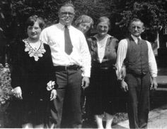 My mom and dad and Grandma and Grandpa Ambs (don't recognize the lady in the middle) 1928