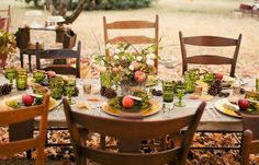fall table via Style Me Pretty