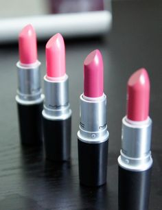 Pink MAC lipstick.