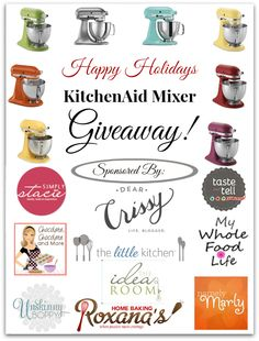KitchenAid Stand Mixer #Giveaway $349: Happy Holidays! #Sweepstakes | DearCrissy.com