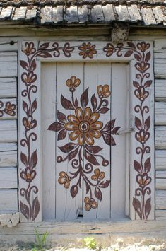 """Floral Hand Painted Door - #rustic #decor"""