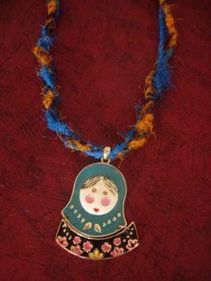 Bohemianhippie Matryoshka art pendant on a handmade by eltsamp, $30.00