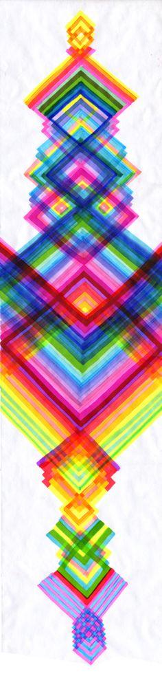 colour, graphic, diamonds, diamond pattern, color diamond, diamond art, maya hayuk, rainbow, bright colors