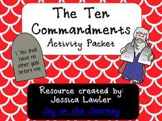 Ten Commandments Activity Packet  1.50