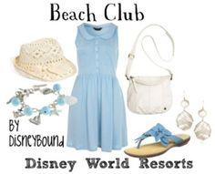 . disney cloth, beaches, club resort, club outfits, disney outfit, disney world resorts, beach club, disneybound, disney bound