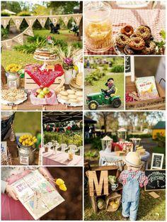 Farm Themed Birthday Party with SO MANY CUTE IDEAS via Kara's Party Ideas | Kara'sPartyIdeas.com #LittleFarmer #Barnyard #FarmParty #Ideas #Supplies