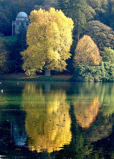 weight loss secrets, stourhead, tree, color, autumn, natur, mirror image, beauti, place
