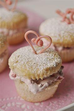 raspberry cream cupcake