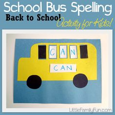 School Bus Spelling! A fun back to school activity for kids!