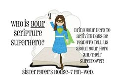 LDS Activity Day Ideas: Who is Your Scripture Superhero?