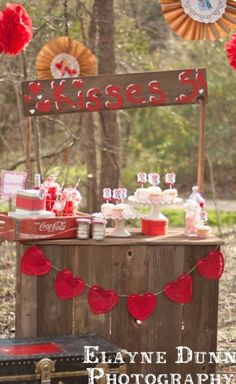 Valentines Day Kissing Booth - a cheeky addition to have! Can be used to set the party food on, or even as a photo booth frame!!