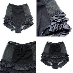 High waist sheer ruffle panties, Angie Johnson on Etsy