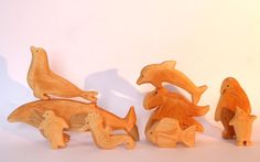 Animals of the Sea, wooden Waldorf toys