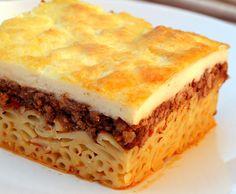 pastitsio - greek traditional pasta recipe