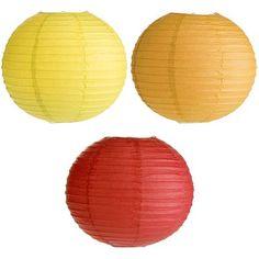 "Fiesta Paper Lanterns Set - 14"""