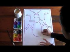 How to draw and paint a pattern beetle
