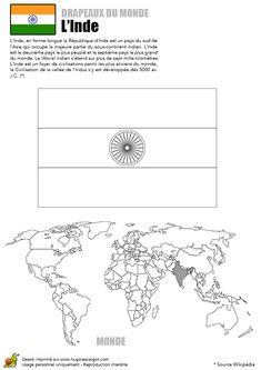 ACTIVITE - Coloriage du drapeau de l'Inde