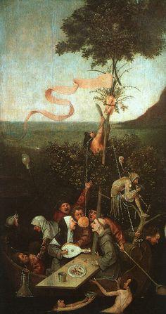 Hieronymus Bosch (ca. 1450-1516) Het Narrenschip (begin 16e eeuw) Olie op paneel 58 x 32,5 cm - Het Louvre
