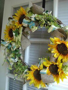 Sunflower Spring Wreath