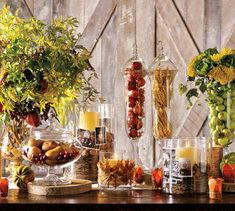 Fall decorating with Apothecary Jars