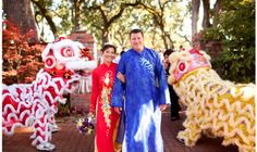 A festive and culturally rich Chinese style wedding in the Grove.