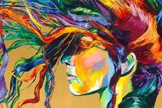 linzi lynn, hair art, colorful hair, rainbow hair, colors